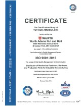 ISO 9001:2008 Würth Adams
