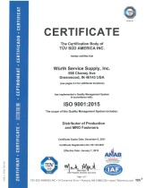 ISO 9001:2015 Würth Service Supply