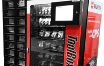 Red Vending Machine with Tools