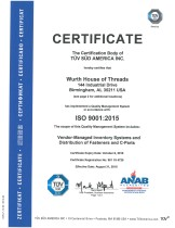 ISO 9001:2015 Würth House of Threads